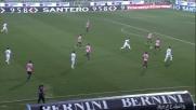 Goldaniga in tackle affonda Mancosu: rigore per il Carpi contro il Palermo