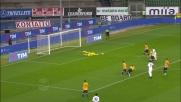 Gollini si allunga e nega il goal a Borriello in Verona-Atalanta