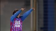 Gomez scambia con Castro e realizza il primo goal della gara contro l'Udinese