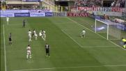 Gomez sigla il goal vittoria contro il Milan finalizzando una splendida azione corale dell'Atalanta