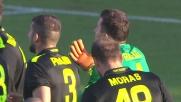 Gomitata di Rafael a Paganini: rosso diretto e calcio di rigore per il Frosinone