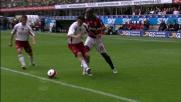Gran giocata di Seedorf che subisce fallo in area della Reggina