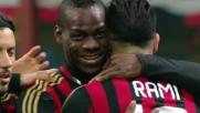 Gran goal al volo di Balotelli: il Milan raddoppia sul Chievo
