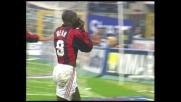 Gran goal di testa di Weah nel derby di Milano