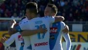 Gran goal di Zielinski contro il Cagliari: Napoli avanti di tre reti
