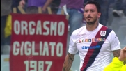 Gran stacco aereo di Pinilla per il goal del pareggio contro la Fiorentina al Franchi