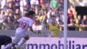 Grandolfo realizza il suo primo goal in Serie A contro il Bologna