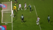 Il tiro di Berardi viene deviato sul palo dalla difesa dell'Udinese