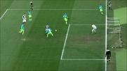 Guizzo di De Paul contro l'Inter, pallone che si stampa sul palo