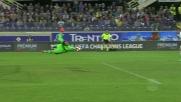 Donnarumma parata da fenomeno contro la Fiorentina