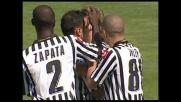 Con una girata al volo Quagliarella realizza il goal dell'1-0 contro l'Atalanta al Friuli