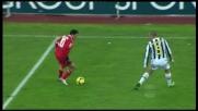 Cannavaro interviene in maniera fallosa su Barreto e l'arbitro fischia il rigore