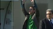Handanovic cerca fortuna nell'area del Siena con un tuffo stravagante