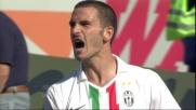 Handanovic compie una parata miracolosa su Bonucci in Udinese-Juventus