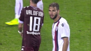 Hart devia il sinistro di Tachtsidis, niente goal per il Cagliari