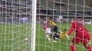Helander per rimediare ad un suo errore abbatte Zaza in area: rigore per la Juventus