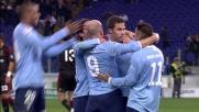 Hernanes con una zampata in area segna il goal del vantaggio laziale sul Milan