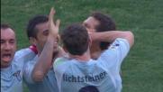Hernanes segna su punizione il goal del vantaggio della Lazio sul Chievo