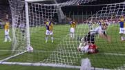 Heurtaux entra in porta col pallone per il goal del 2 a 0 contro il Parma