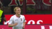 Hiljemark firma il pari momentaneo contro il Milan