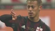 Honda colpisce la traversa contro il Torino da calcio di punizione