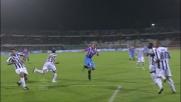 Maxi Lopez segna con una gran girata di testa il goal vittoria contro l'Udinese