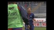 Budel di sinistro chiude la partita, Cagliari-Messina 2-0