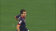Sau di testa segna il goal del 3-1 del Cagliari nella trasferta all'Olimpico
