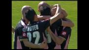 Amauri batte di testa Muslera in Lazio-Palermo