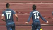 Il goal di Mertens porta in vantaggio il Napoli contro l'Udinese