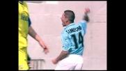 Simeone trova il goal contro il Chievo all'Olimpico