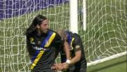 Biabiany supera il portiere con un sombrero e segna il goal del pareggio