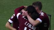 Iago Falque segna di testa il goal del vantaggio del Torino sulla Lazio