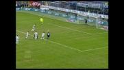 Iaquinta segna il goal della bandiera per l'Udinese a San Siro