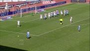 La zampata di Maxi Lopez vale il goal del momentaneo pareggio del Catania contro il Genoa