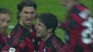Ibrahimovic dal dischetto segna il goal vittoria del Milan contro il Napoli