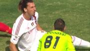 Ibrahimovic non arriva in allungo sull'assist di Cassano