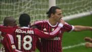 Ibrahimovic segna dal dischetto il goal dell'1-0 al Catania