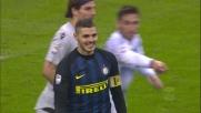 Icardi trova la traversa con il tiro di esterno destro contro la Lazio