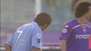 Lavezzi, passaggio con sombrero contro la Fiorentina