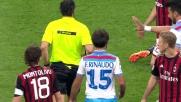 Brutto tackle di Rinaudo su Mexes ed espulsione per l'argentino