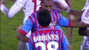 Il Catania resta in dieci contro il Milan per l'espulsione di Barrientos