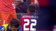 Il colpo di  testa di Borriello viene parato da un ottimo Bizzarri