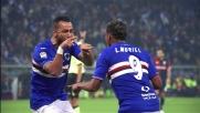 Il destro di Muriel porta avanti la Sampdoria nel derby di Genova
