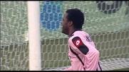 Il destro di Simplicio supera Handanovic: è il goal dell'1-1 tra Udinese e Palermo
