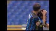 Il difensore dell'Atalanta Talamonti realizza il goal vittoria all'Olimpico contro la Lazio