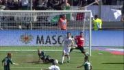 Il goal da rapace di Gilardino beffa tutta la difesa del Sassuolo