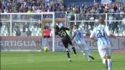 Il goal di Abbruscato porta avanti il Pescara contro il Parma