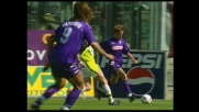 Il goal di Batistuta da il via alla goleada della Fiorentina contro il Perugia