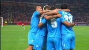 Il goal di Britos sblocca la partita a San Siro: Napoli in vantaggio
